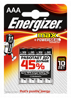 Элементы питания ENERGIZER Max+Power SEAL E92/AAA FSB4